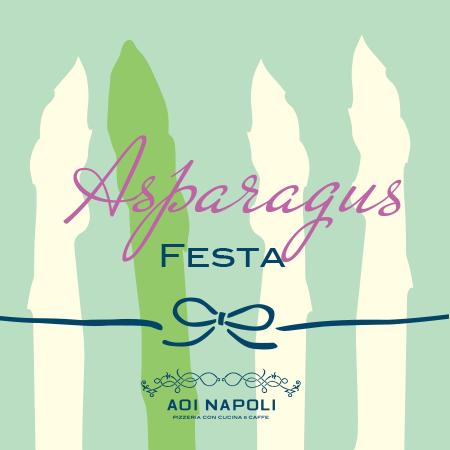 青いナポリのアスパラガスフェア   5月26日からはアスパラソヴァージュも登場!