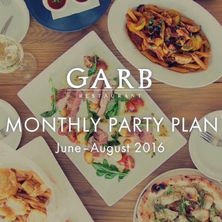 【6?8月限定】GARB江ノ島 MONTHLY PARTY PLAN