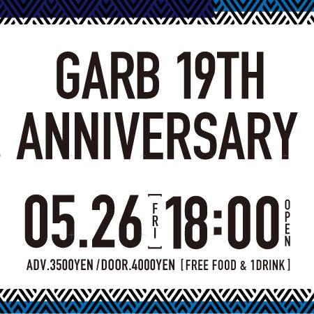 GARB 19TH ANNIVERSARY